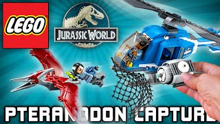 Lego Jurassic World Set Pteranodon Capture 75915 Toy Play Unboxing Time-Lapse Speed Build Brinquedo