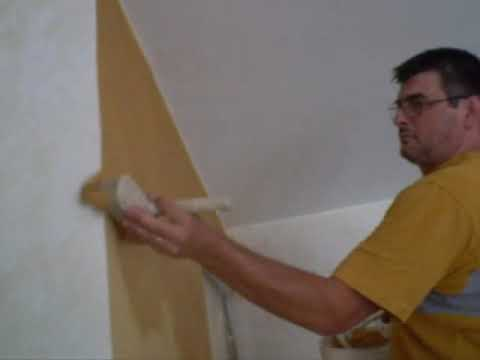 Decorazione pareti pittura dorata effetto oro grezzo - Roma