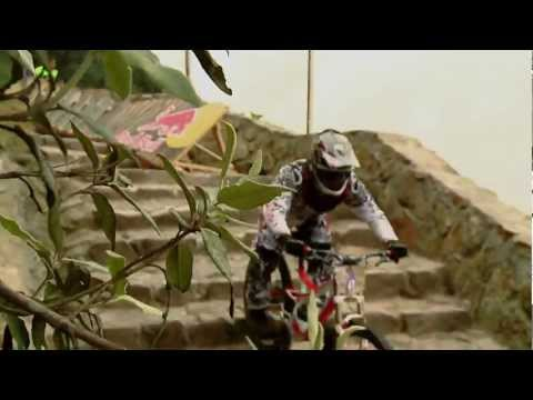 Urban downhill mountain bike race – Red Bull Monserrate Devotees 2012
