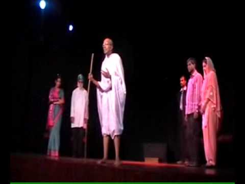 As Mahatma Gandhi in the play -