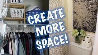 SPACE-SAVING IDEAS   Closet & Bathroom Makeover