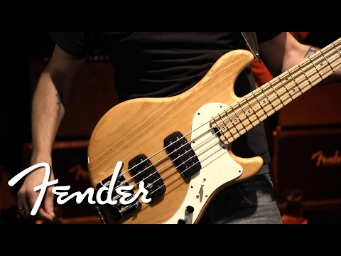 Fender American Deluxe Dimension Bass V HH MN NAT