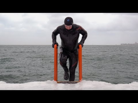 Winter swimming in Chicago