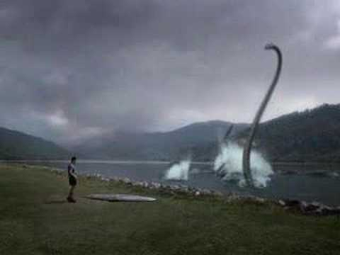 Nessie - Hilarious commercial showing the loch ness monster using a cardboard cut-out of a toyota car as a decoy to lure people over so that he can grab them...very c...