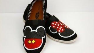 Mickey & Minnie DIY Disney Shoes | ShowMeCute - YouTube