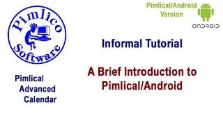 Pimlical Advanced Calendar/PIM YouTube video