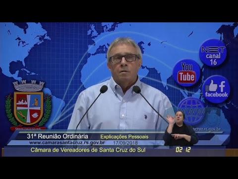31ª Reunião Ordinária - 17/09/2018