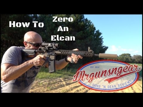 How To Zero An Elcan Specterdr 1-4x Optic (hd)