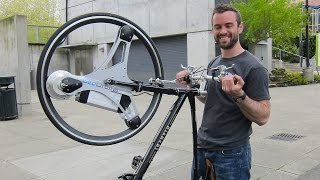 Watch this amazing invention transform almost any bicycle into an electric bike in seconds.