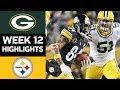 Packers vs Steelers | NFL Week 12 Game Highlights