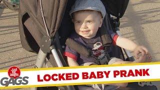 Man Leaves Baby Stroller On a Bike Lock