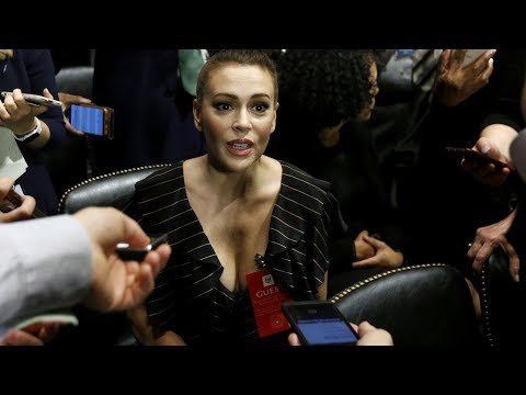 Alyssa Milano at Kavanaugh Senate hearing
