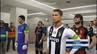 Video Juventus vs PSG I Ronaldo and Buffon Debut I PES 2018 Gameplay MP3, 3GP, MP4, WEBM, AVI, FLV Februari 2019