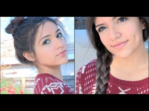 Two Fun braided hairstyles! – Fishtail Topknot & The 4 strand