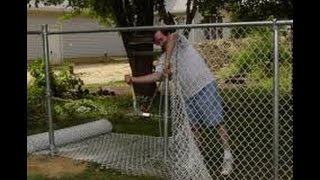 Video HOW TO INSTALL A CHAIN LINK FENCE (PART 2) MP3, 3GP, MP4, WEBM, AVI, FLV Juni 2019