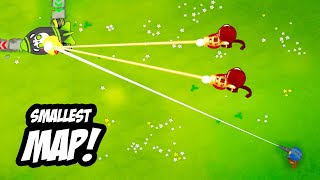 Playing The SMALLEST Map EVER Made In Bloons TD6