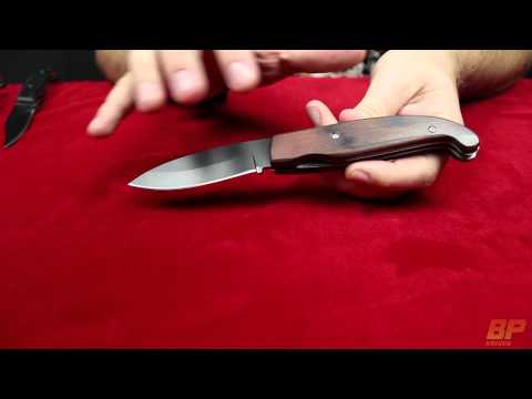 Tonic Spear Point Rosewood Dual Action Automatic Knife - Black Plain