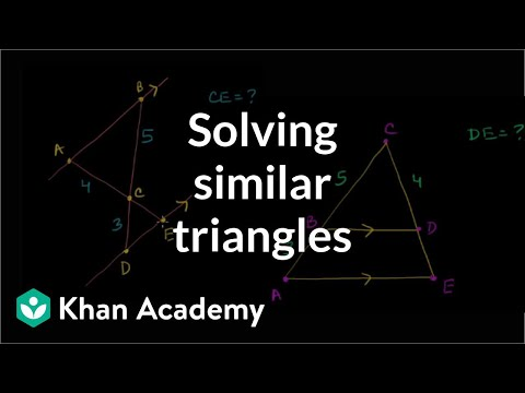Solving Similar Triangles Video Khan Academy