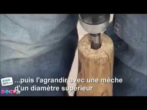 Comment fabriquer une lampe en bois flotté