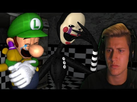 LUIGI MEETS THE PUPPET! || Mario In Animatronic Horror - Part 4 (Super Mario x FNAF Horror Game)