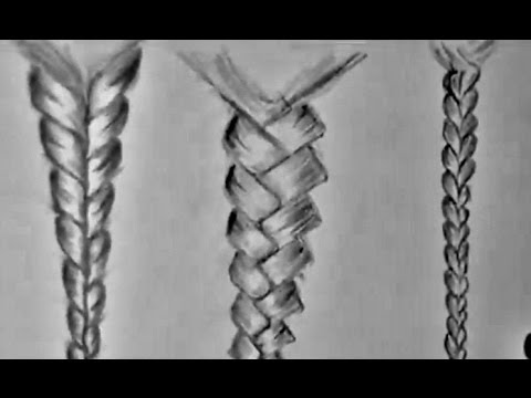 how to draw braided hair Drawing Hair For Beginners