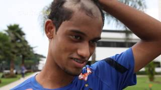 Os novos integrantes do elenco profissional do Peixe levaram um trote do Neymar, que já avisou que os próximos que subirem...