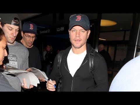 Matt Damon Is The Man Of The Hour Upon Arriving At LAX