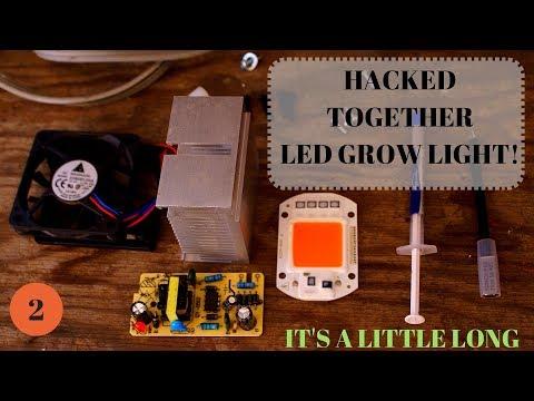 50 watt grow driver-less LED Frankenstein heat sink mount up and fan driver