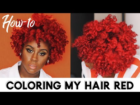 Hair color - How I Dyed My Natural Hair Bright Red at HOME without Breakage