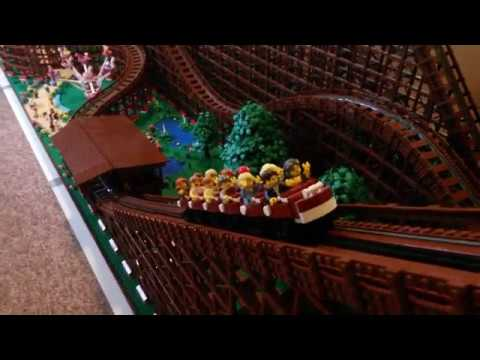 A Fully Functional LEGO Wooden Roller Coaster