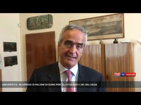 UNIVERSITA': IN ARRIVO 13 MILIONI DI EURO PER GLI STUDENTI   26/05/2020