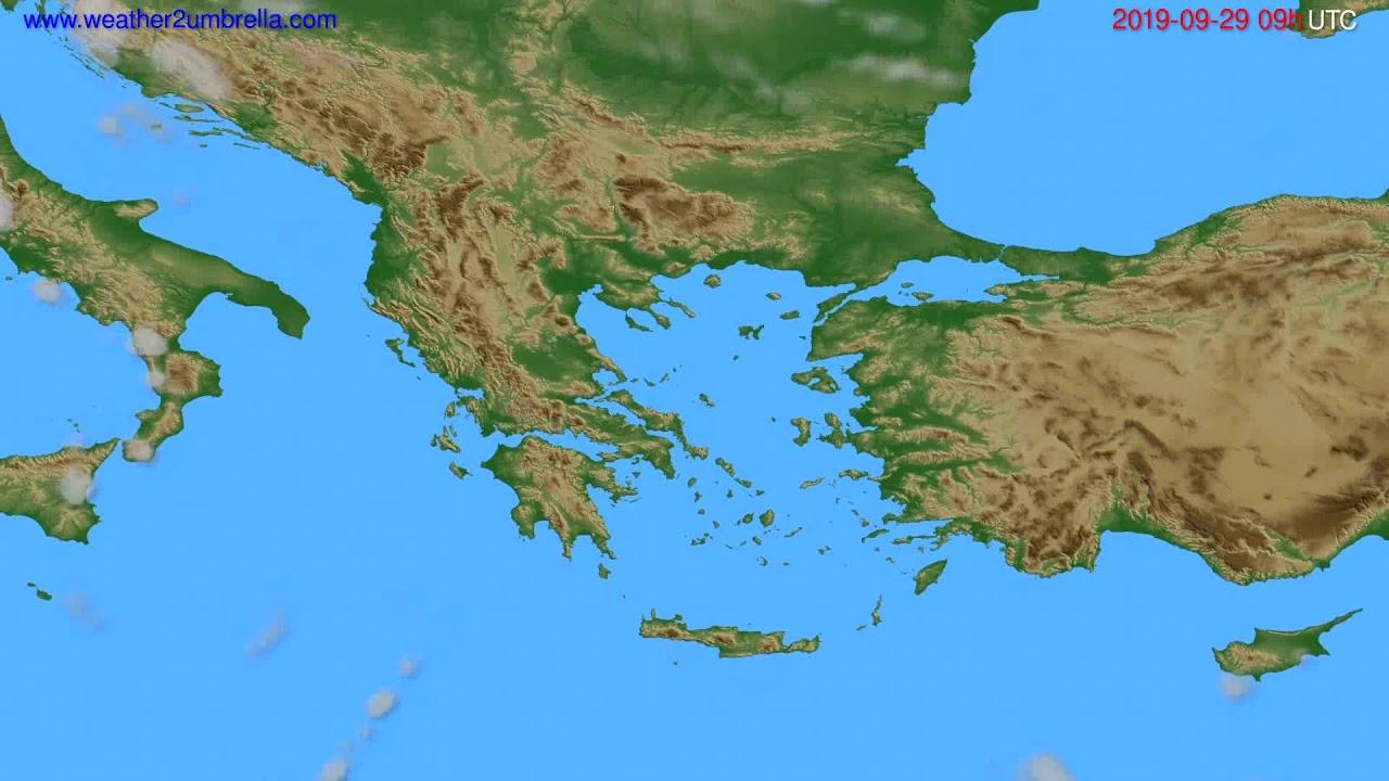 Cloud forecast Greece // modelrun: 12h UTC 2019-09-27