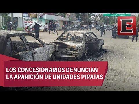 Riña entre taxistas en Chiapas deja dos personas heridas