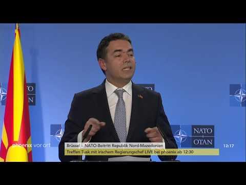 NATO-Generalsekretär Stoltenberg zum NATO-Beitritt der Republik Nord-Mazedonien am 06.02.19