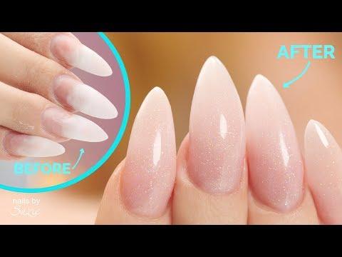 Nail art - Acrylic Nail Fill and Makeover