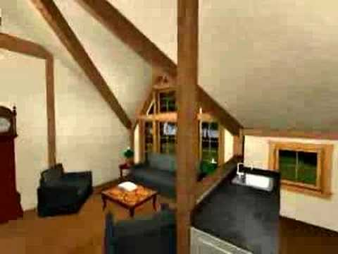 Post and Beam – Victorian Guest House – Yankee Barn Homes – 3D Virtual Walkthrough