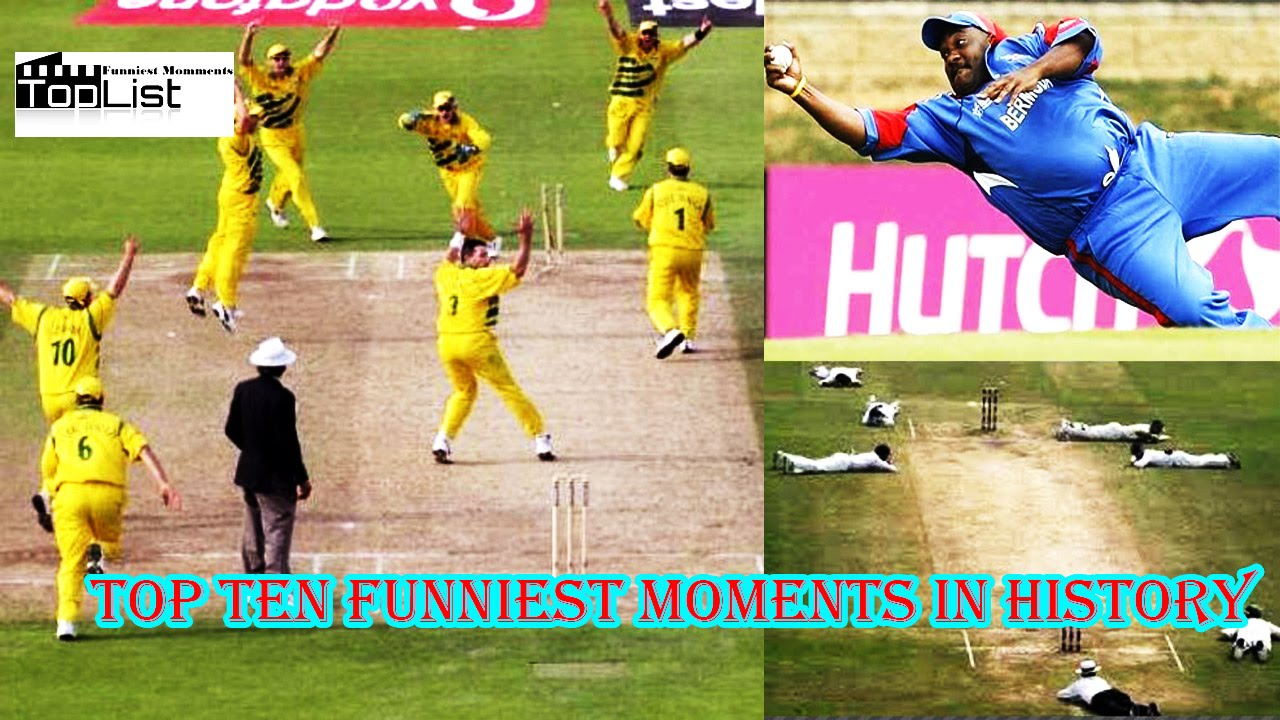 Top Ten Funniest Moment In Cricket History including ipl And Ashes Series