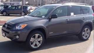 2012 Toyota Rav4 Sport 4WD 2.5L 27 Mpg QX Package Magnetic Grey Test Drive