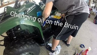 8. How to Change Oil on a 2006 Yamaha Bruin 350