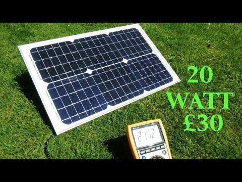 , title : 'A cheap 20 watt 1.2 amp Ebay solar panel battery charger. 2016'