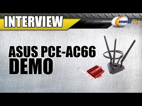adapter - http://www.newegg.com | Wireless Adapter: http://bit.ly/YapiuX 33-320-136 Nick from ASUS stopped by today to show us their new PCE-AC66 PCI Express adapter b...