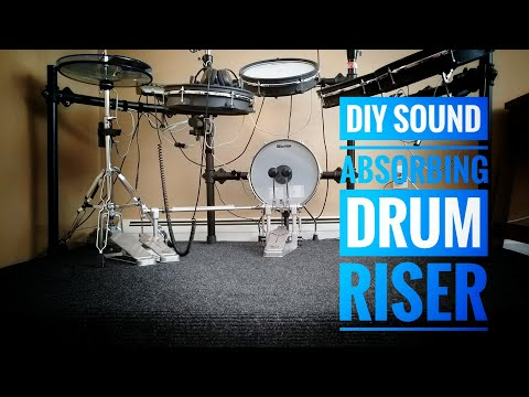 DIY Sound Absorbing Drum Riser