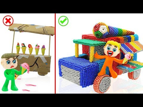 SUPERHERO BABY BUILDS MAGNETIC TRUCK 💖 Play Doh Cartoons Animation