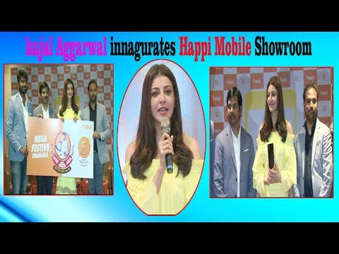 Actress kajal Aggarwal innagurates Happi Mobile Showroom in Visakhapatnam,Vizgvision...