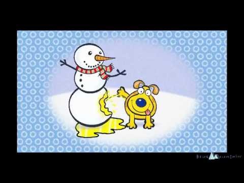 Funny Christmas Animation - Dog Pees on Snowman