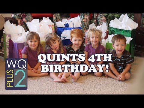 Funny birthday wishes - Wilkinson Quints 4th Birthday - from the archive