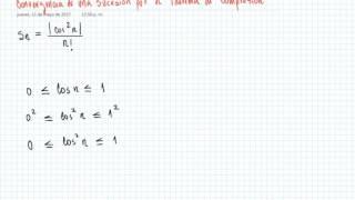 Convergencia de un Sucesión por el Teorema de Compresión (2)