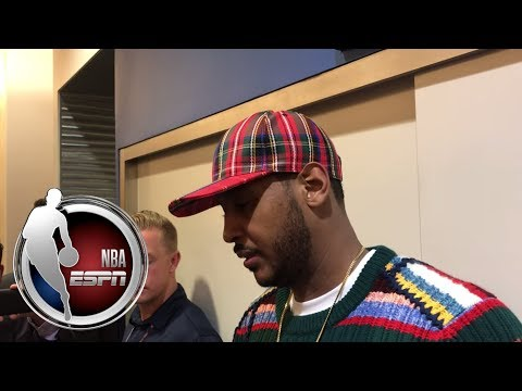 Video: Carmelo Anthony talks second half basketball for Thunder| NBA on ESPN