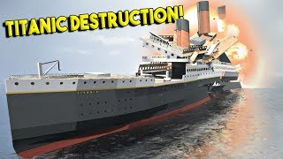 Video SINKING THE MASSIVE TITANIC! - Disassembly 3D Gameplay - First Look MP3, 3GP, MP4, WEBM, AVI, FLV Desember 2017