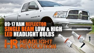 Low Beam:https://headlightrevolution.com/2009-2017-dodge-ram-reflector-single-beam-led-low-beam-bulbs-upgrade-supernova-v-3/High Beam:https://headlightrevolution.com/2009-2017-dodge-ram-reflector-single-beam-led-high-beam-bulbs-upgrade-supernova-v-3/We finally have an awesome high beam kit for your Ram truck with H11 low beam and 9005 high beam reflector headlights! Plug and play with very little customization required. Watch our video to see how to do the install, how to adjust them, and how to have the best LED headlights on the market!